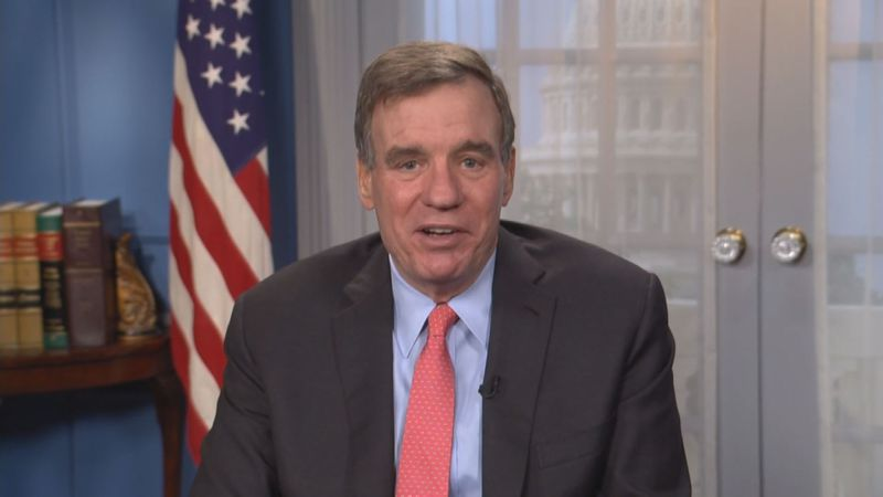 Sen. Mark Warner (D-VA) spoke to reporters Thursday.