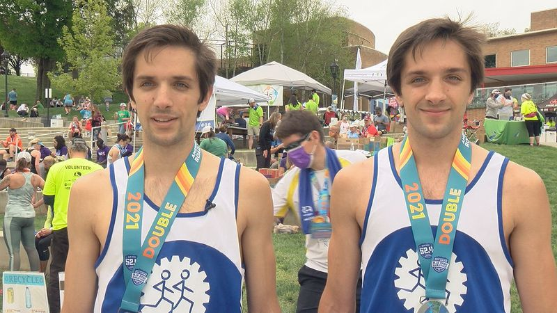Twin brothers run a double marathon together in Roanoke.