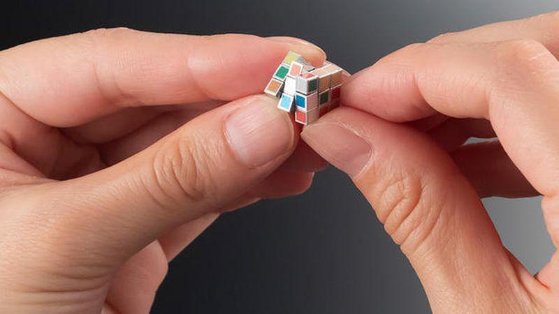 World's smallest Rubik's Cube goes on sale.