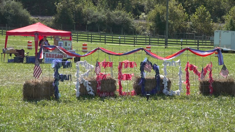 A patriotic display at Freedom Fest 2021.