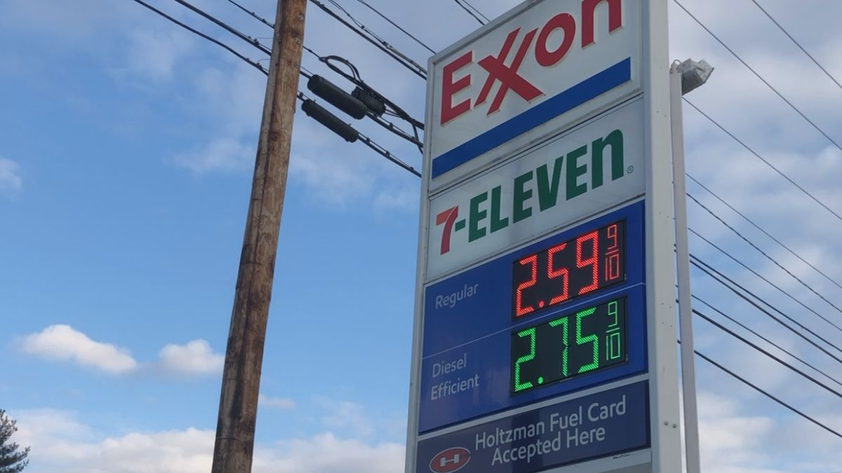 Pumps in the Harrisonburg region are averaging $2.56, up 10 cents from a week ago, 17 cents...