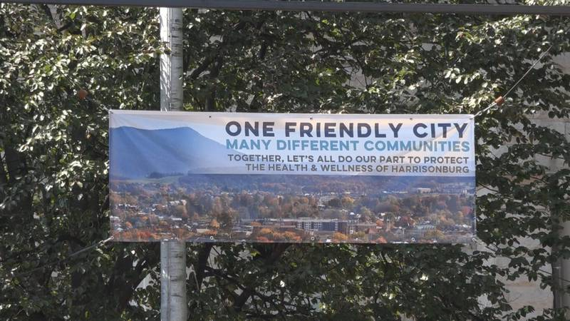 Harrisonburg COVID safety banner