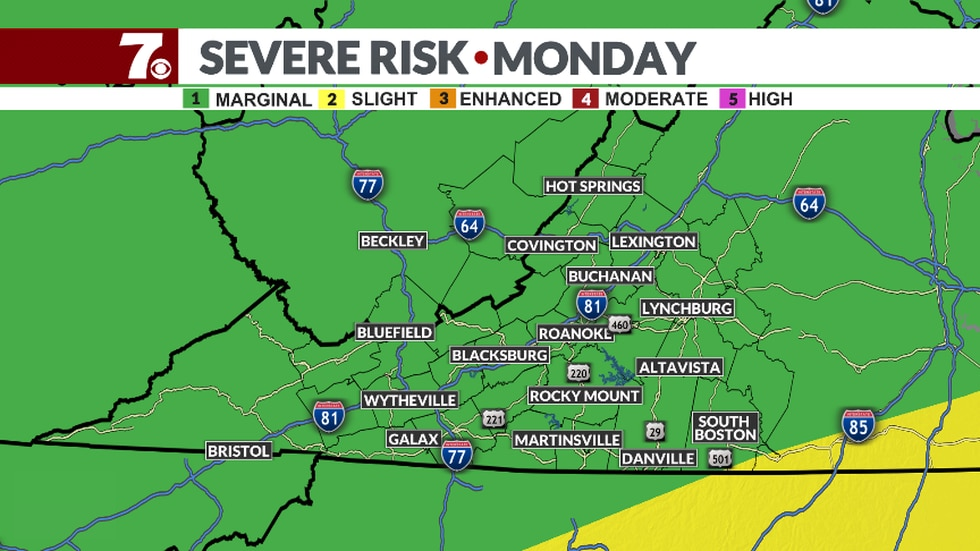 Severe threat lingers into the evening.