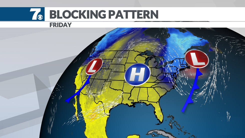 Cooler air returns by the weekend with highs in the 70s and lows in the 40.