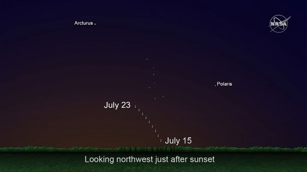 NEOWISE will be rising in the night sky this weekend.