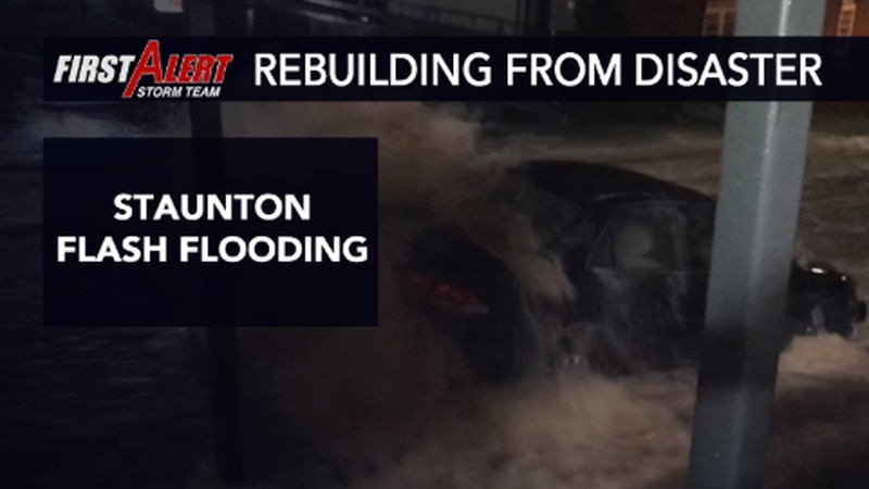 The City of Staunton saw extreme flash flooding in August 2020.