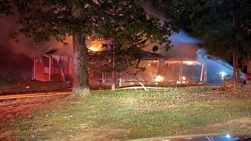 Crews battle early morning house fire in Danville Thursday.