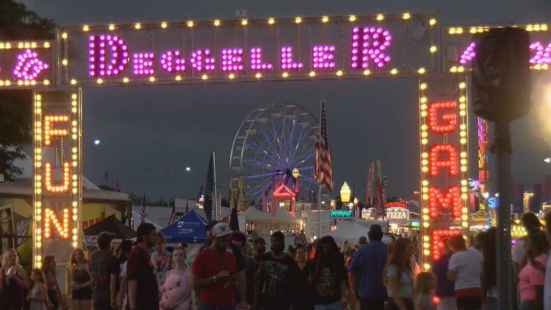People ran out of the Salem Fair Wednesday night as a gun was fired.