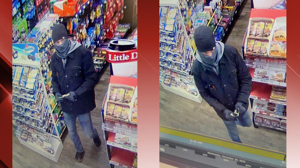 Police are searching for the man responsible for robbing a Marathon Quick-E on Fort Avenue...
