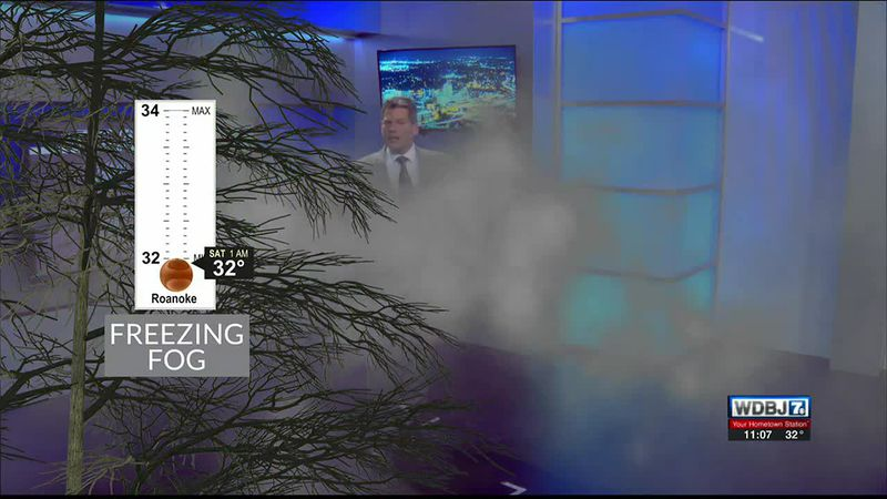 Dense fog has formed in below-freezing temperatures leading to slick spots.