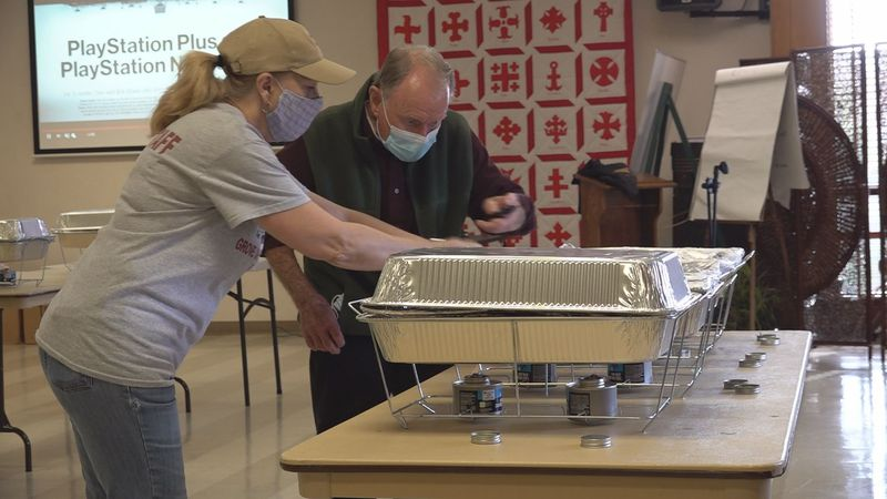 In Radford, a church is making sure people in their hometown have something to eat on...