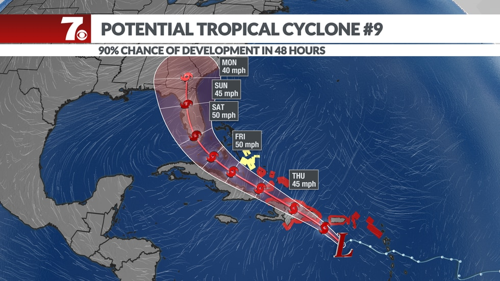 Forecast to move NW towards FL by this weekend.
