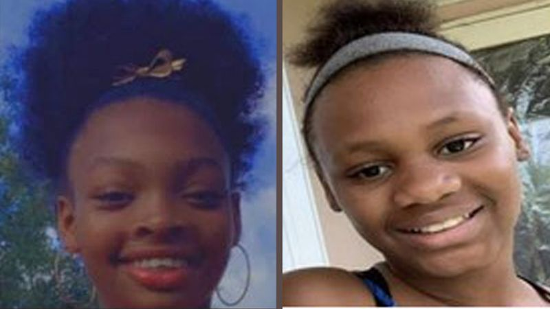 Jazmine Brown, 12, left, and Markevia Wright, 13, were last seen in the Homestead, Florida area.
