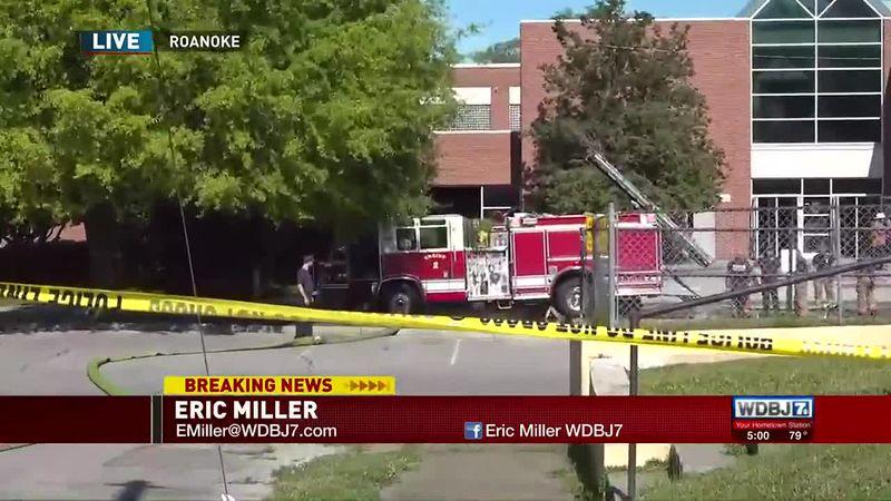 Driver Crashes into Roanoke School