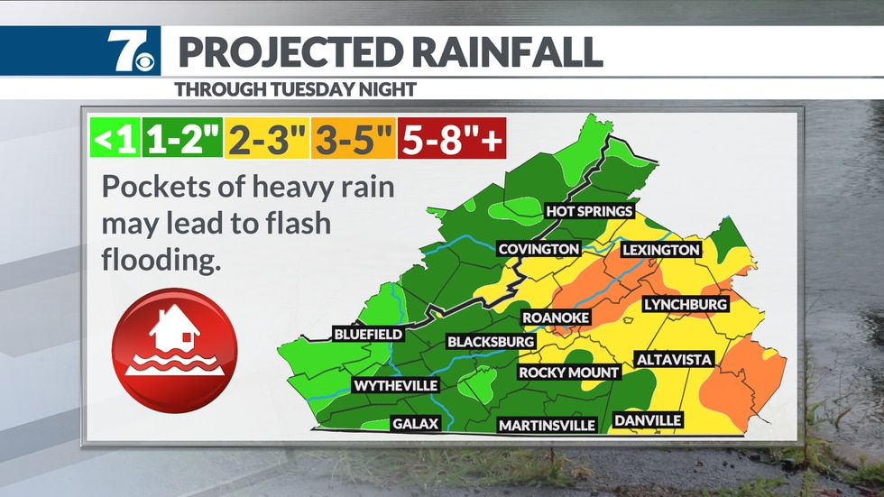 Tropical rainfall could impact our regions through Tuesday.