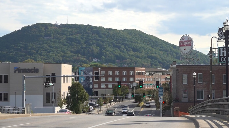 The historic Dr Pepper sign in downtown Roanoke on Friday.
