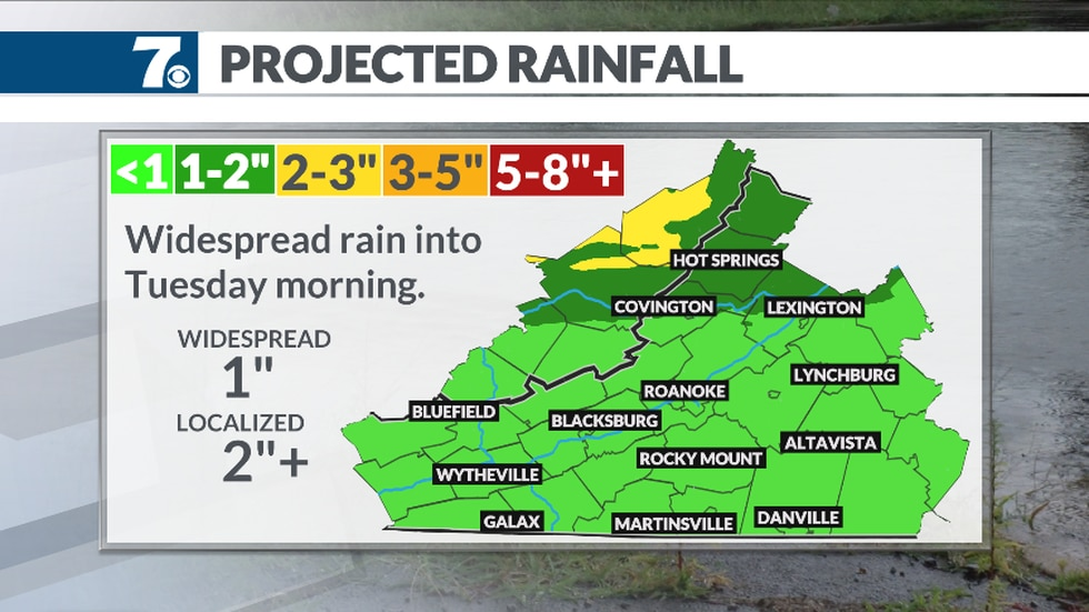 A soaking rain expected for the start of the week.