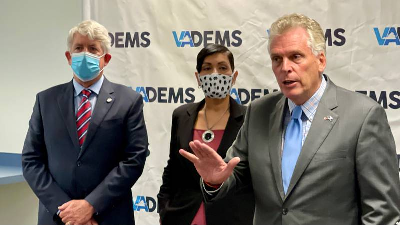 In their first joint news conference, the Democrats running for statewide office in Virginia...
