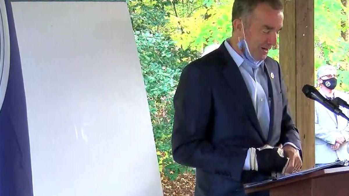 Virginia Gov. Ralph Northam is recovering after breaking his hand.