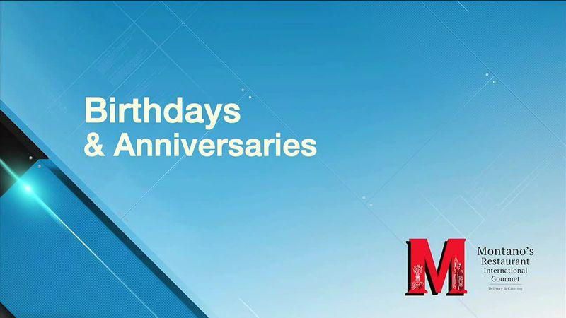 Birthdays and Anniversaries 4/14