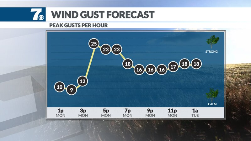 Wind will pick up and becoming gusty at times.