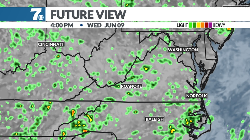 Showers and storms will be slow-moving into the afternoon and evening.