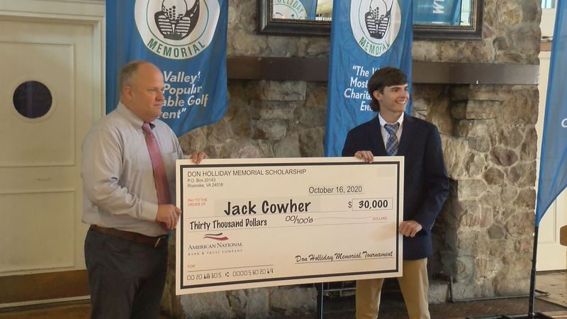 Cave Spring's Jack Cowher was the recipient of the 30 thousand dollar scholarship