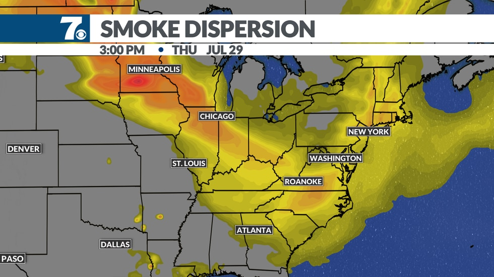 Lower air quality could become an issue again this week as higher levels of smoke return.
