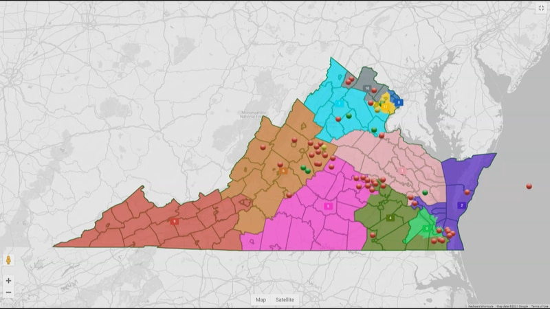 The Virginia Redistricting Commission is considering a new congressional map that could bring...