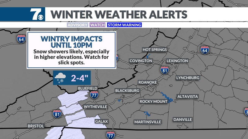 Winter Weather Alerts continue into tonight.