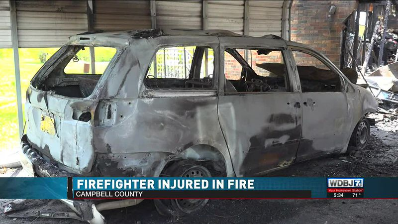 Firefighter Injured Campbell County Scene