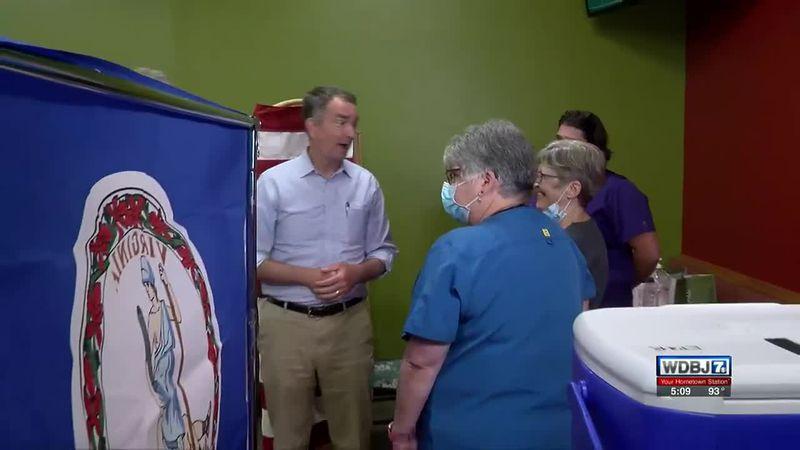 Northam Visits White's Travel Center June 21 2021