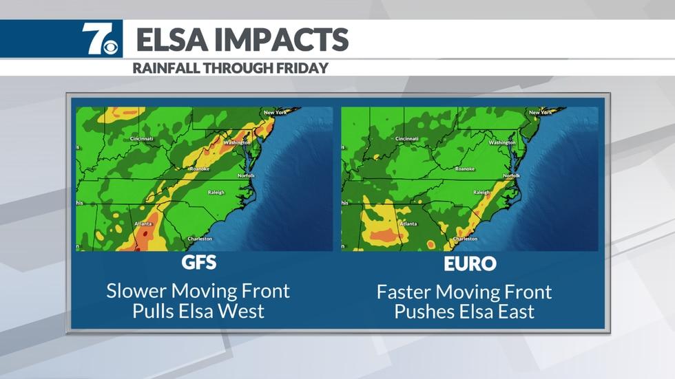 Elsa could bring some rain next week.